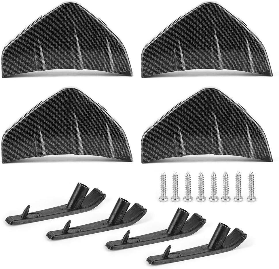 qing niao 4pcs Car half Rear Bumper Protect Spoiler Fins Lip Diffuser Overseas parallel import regular item