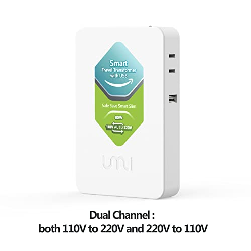 UMI Step Up and Down Voltage Converter 80W, Slim and Light, Smart Convert from