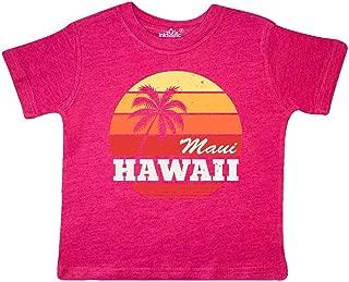 inktastic Maui Hawaii Retro Sunset Toddler T-Shirt