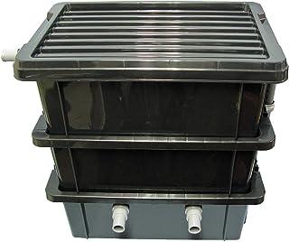 ろ過装置3段型 金魚メダカ用、箱プラ80L以上用 ハンドメイト 水質安定君