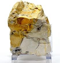 305g Orbicular Jasper in White Yellow Chalcedony Agate w/Quartz Druzy Rough Natural Gemstone Crystal Mineral Specimen - India
