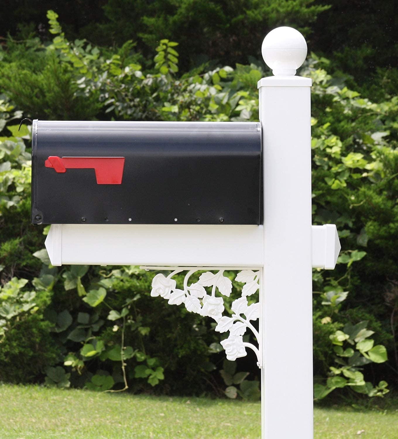 4Ever Products The Roosevelt Vinyl PVC Max Overseas parallel import regular item 74% OFF Ma Mailbox Post Includes