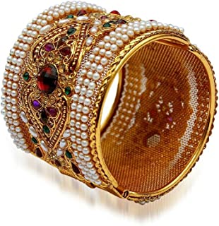 YouBella Antique Style Jewellery Gold Plated Kara Bangle for Women : Best Rakhi Gift Jewellery