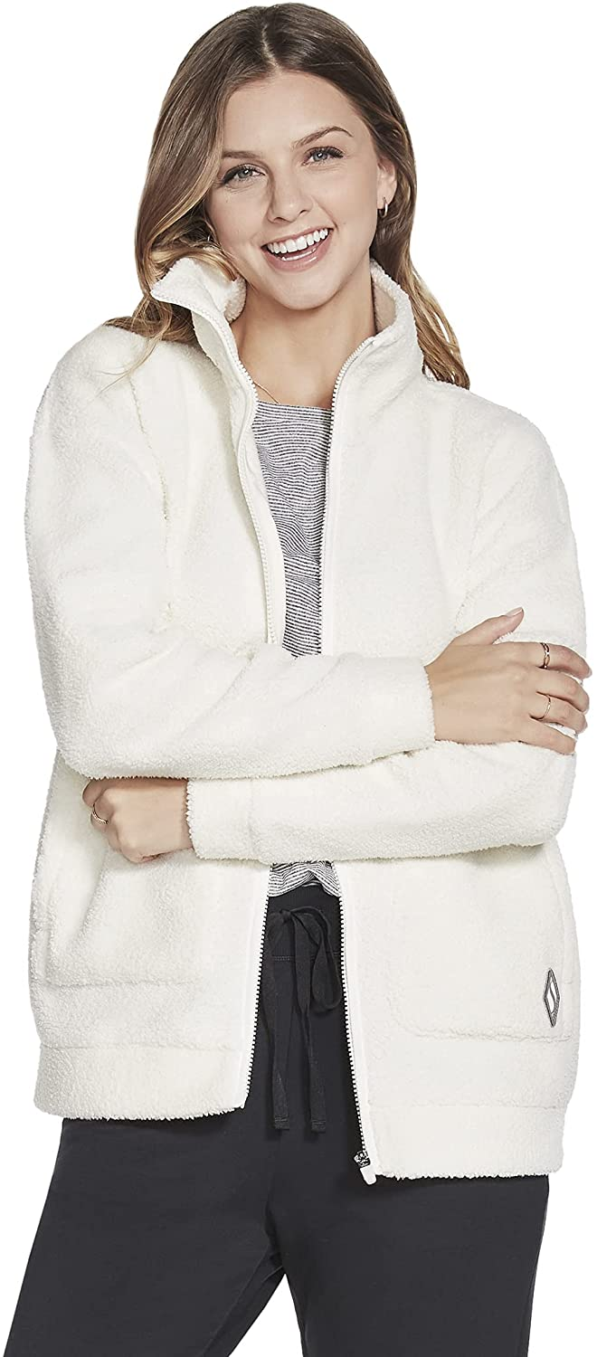 Skechers Women's Downtime Sherpa Jacket : Clothing, Shoes & Jewelry