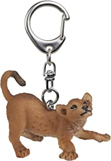 Papo Playing Young Lion Key Ring, Multicolor