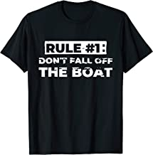 Funny Cruise T Shirt Rule #1 Don't Fall Off The Boat Tee