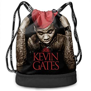 Kevin Gates Drawstring Sports Backpack Lightweight For Men And Women