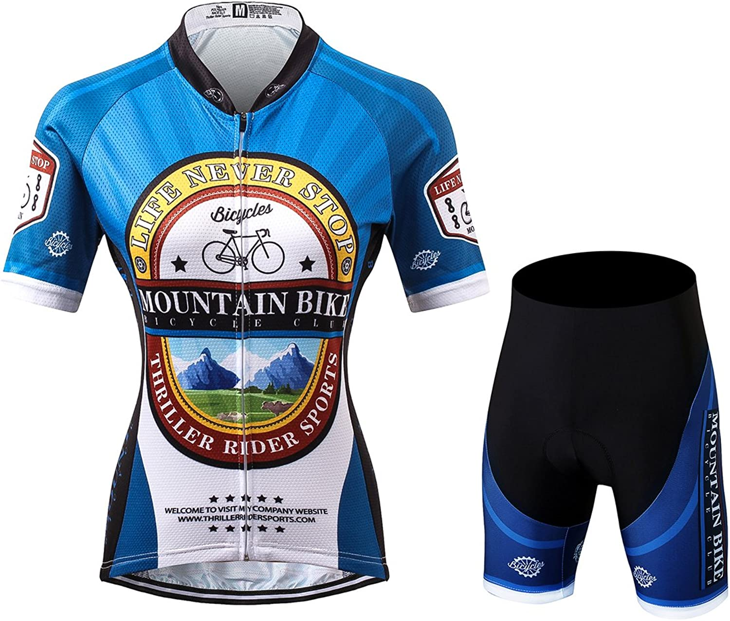 TRSW0024 LAOYOU Women's Cycling Jersey Mountain Bike Sports Short Sleeve Jersey Bicycle Cycle Shirt Wear Comfortable Breathable Shirts Tops