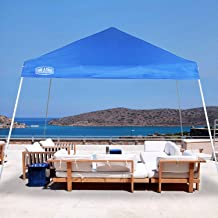 LAKE & TRAIL 12'x12' Slant Leg UV Block Sun Shade Canopy with Hardware Kits, Shade for Patio Outdoor Garden Events, Blue