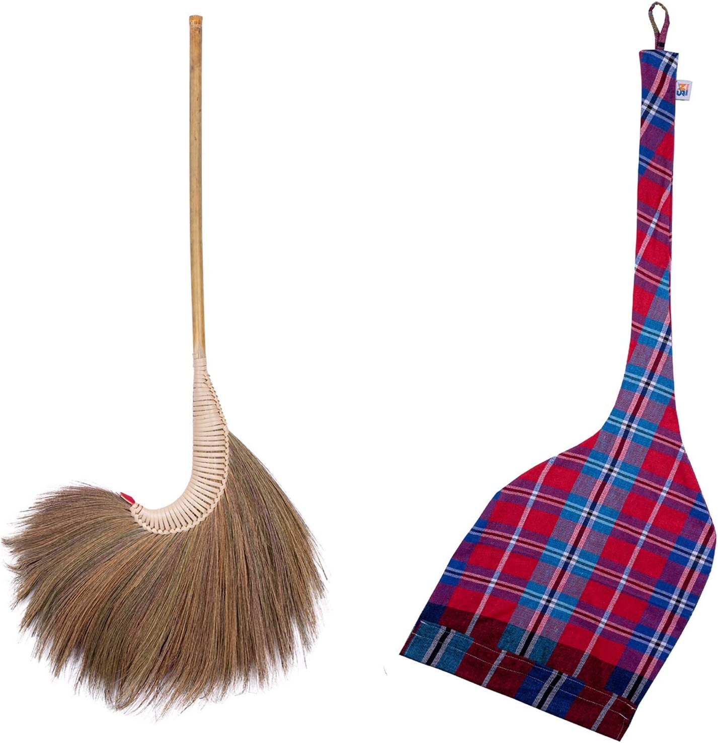 service 67% OFF of fixed price Natural Grass Broom Handmade Contemporary 100%