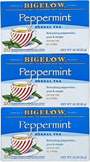 Bigelow Tea, 20 Bags - Purely Peppermint (3 Pack)