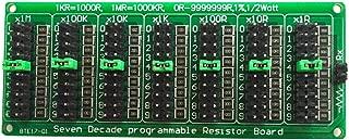 WINGONEER® 1R - 9999999R Seven Decade Programmable Resistor Board, Step 1R, 1%, 1/2 Watt.