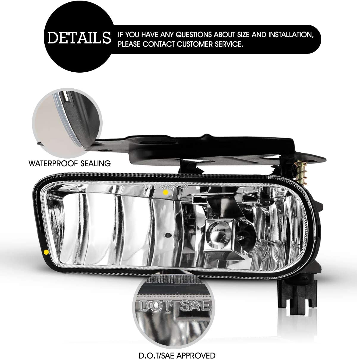 Details about  /Smoke Lens Pair Fog Lights Lamp Replacement For Cadillac Escalade 02 03 04 05 06