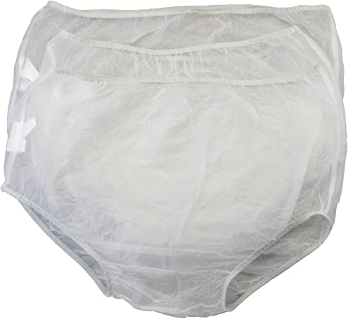 new arrival Vinyl Waterproof lowest Incontinence Underpants, 3 Pair, 2XL, new arrival Clear online sale
