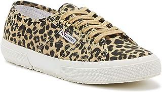 Superga 2750 Cotu Womens Classic Leopard Print Trainers