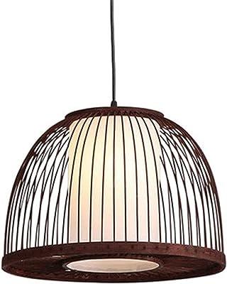 Lampadari KKY-Enter bambù Lampatino da soffitto Interno Moderno Illuminazione in bambù Naturale e Rattan Tessitura a soffitto a soffitto Fatto a Mano (Color : Brown)
