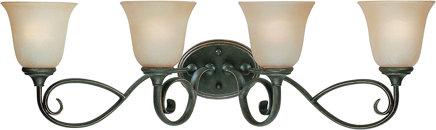 Craftmade New Orleans Mall 24204-MB Barrett Place Easy-to-use Scrollwork 4 Vanity Light Wall