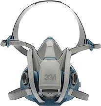 3M Rugged Comfort Quick Latch Half Facepiece Reusable Respirator 6503QL, Gases, Vapors, Dust, Large