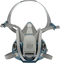 3M Rugged Comfort Quick Latch Half Facepiece Reusable Respirator 6502QL, Gases, Vapors, Dust, Medium
