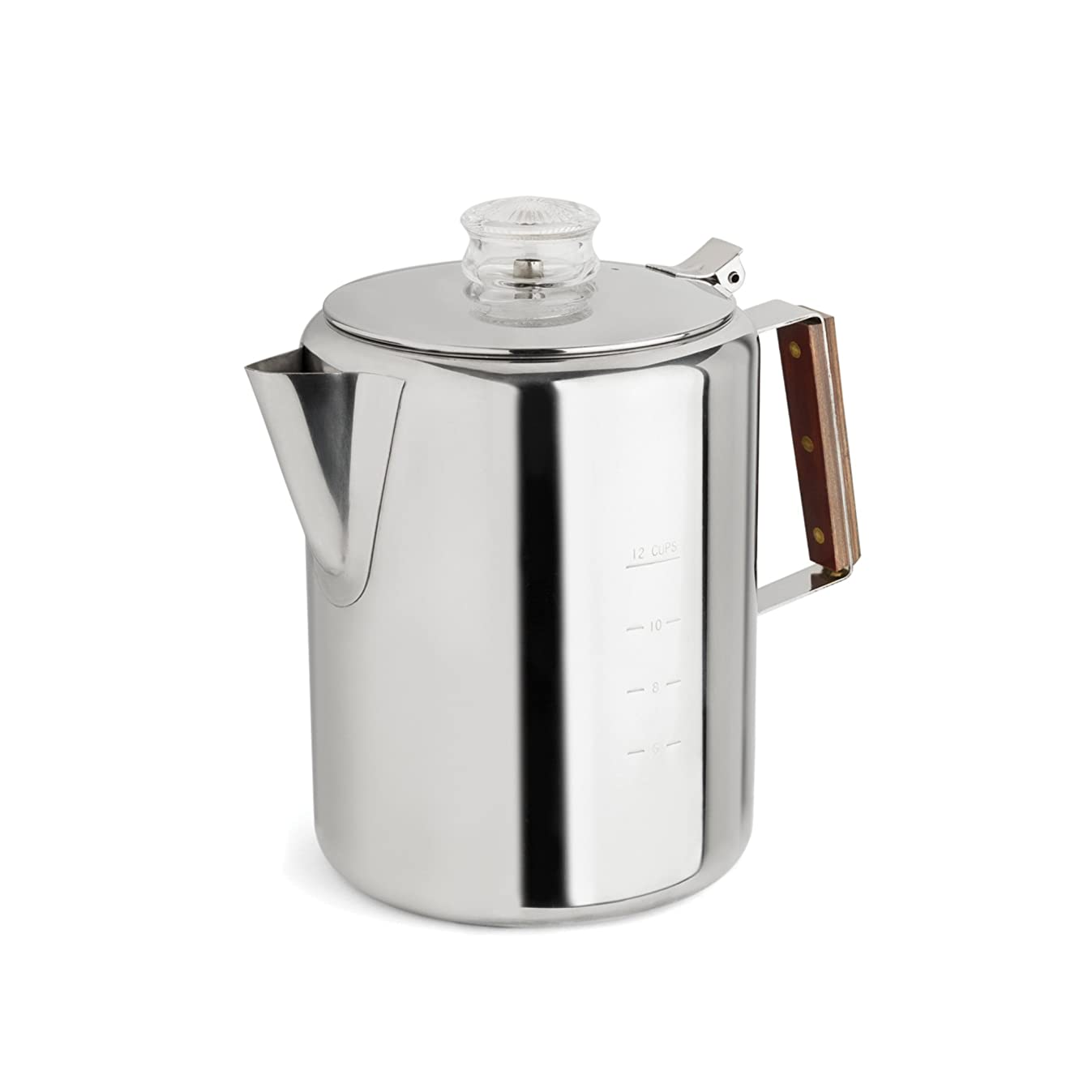 Tops 55705 Rapid Brew Stovetop Coffee Percolator, 12-Cup