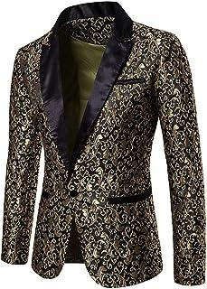 Nansiche Mens Party Dress Casual Vintage Paisley Blazer Urbane Smart Coat Suit Jacket