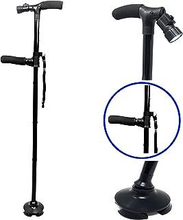 Premium Travel Lightweight Folding Walking Cane with LED Flashlight W/Non Slip Flexible Cane Tip & Extra Handle