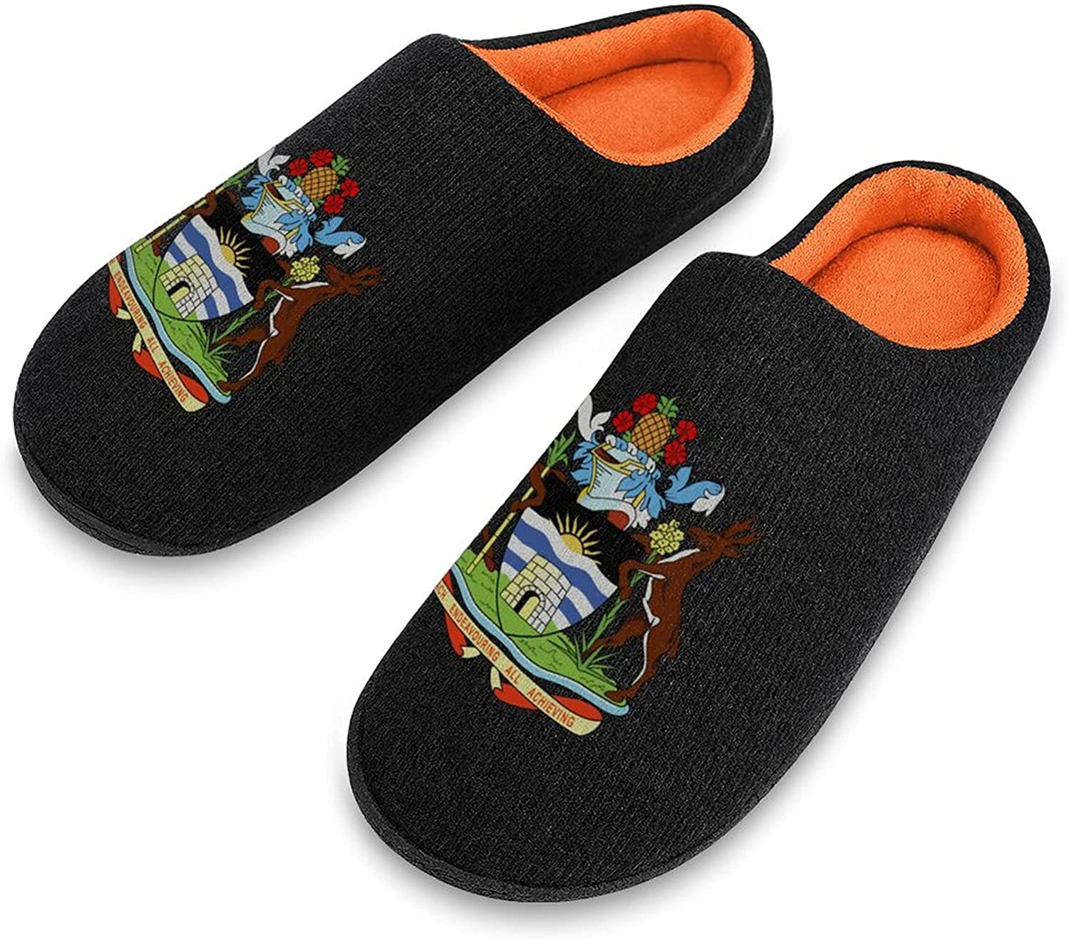 Coat of Arms Antigua And Knitted Men's New item Barbuda Slipper Arlington Mall Cotton