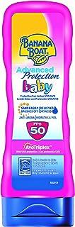 Banana Boat BABY Advanced Protection - Loción Solar Protectora para Bebés con Protección Muy Alta SPF 50+ , Resistente al ...