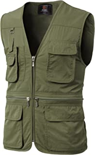 H2H Men's Active Wear Outdoor Vests Work Safari Fishing Travel Utility Summer Vest