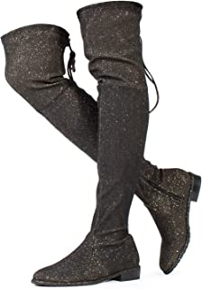 462e9efcf414 Amazon.com: Gold - Over-the-Knee / Boots: Clothing, Shoes & Jewelry