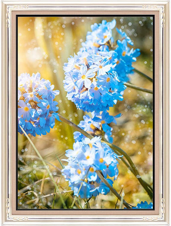 Glz Ölgemälde einfache Cross Stitch Blaume Landschaft voll Besteickte hängenden Gemälde 48  62 cm B07PHND6DB | Konzentrieren Sie sich auf das Babyleben