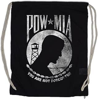 POW MIA VINTAGE LOGO Drawstring Bag Gym Sack Prisoner Of USA War Army Navy Marines Soldier US