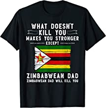 Zimbabwe Dad Gifts for men Fathers Day T-Shirt