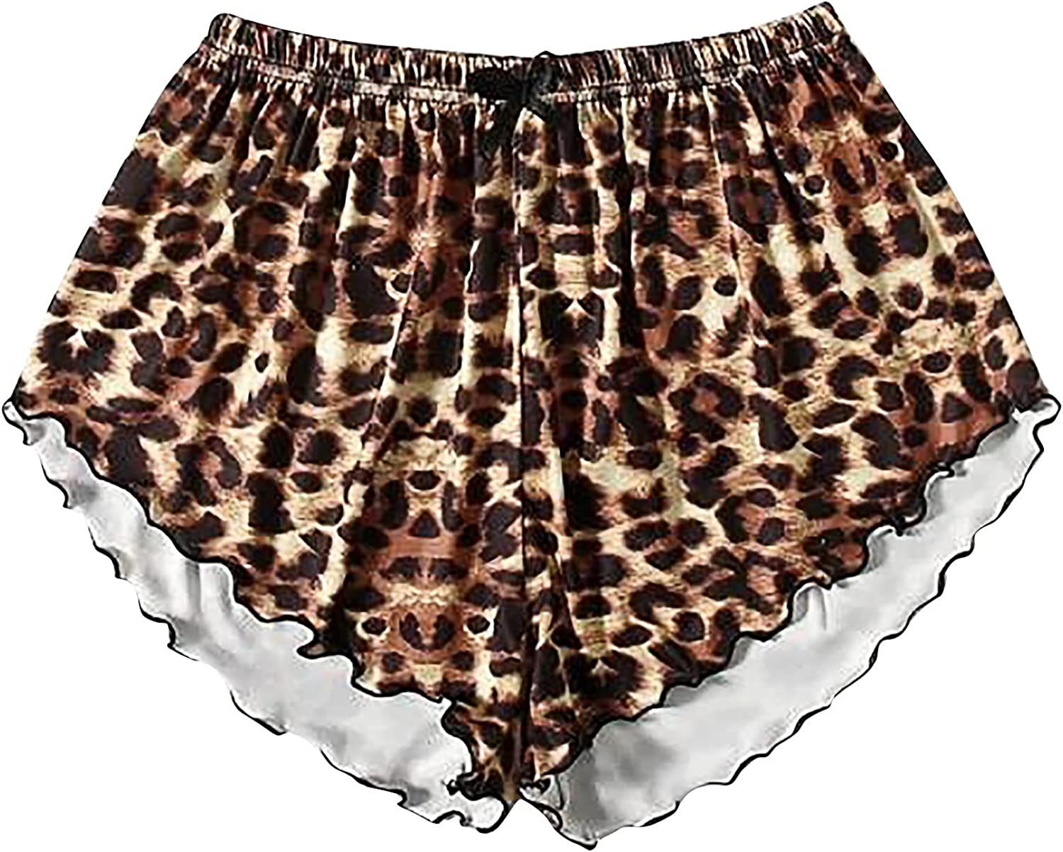 Kanzd Womens Shorts Pants Active Sexy Leopard Cute Patten Tapered Workout Yoga Lounge Track Pockets Joggers Short Pants