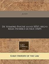 De termino Pasche anno XXVI. regni regis Henrici octaui (1569) (Romance Edition)