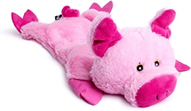 Petface Farmyard Buddies Crinkle Flat Pig Squeak Dog Toy