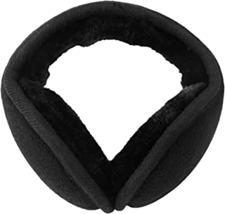 Komene Classic Fleece Ear Muffs Collapsible Behind-The-Head Ear Warmers for Women and Men