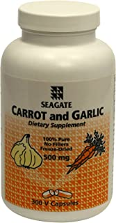 Seagate Products Carrot and Garlic 500mg 300 Capsules
