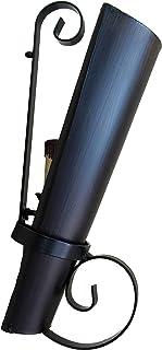 Aplique rustico forja de teja grande invertida nogal. Oscuro.