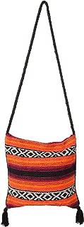 Popular Fiesta Carry On Shoulder Bag Hand-Woven Acrylic Mexican Peyote Design in Vivid Colors