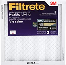 Filtrete 20x20x1, AC Furnace Air Filter, MPR 1500, Healthy Living Ultra Allergen, 2-Pack