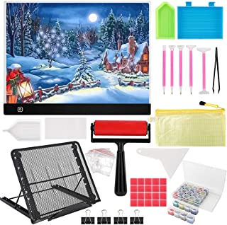 B4 Diamond Painting LED Light Pad Kit,LED Artcraft Tracing Light Table,DIY Dimmable Light Brightness Board,Reusable B4 Pai...