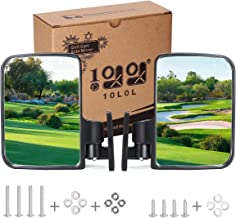 10L0L Golf Cart Mirrors, Universal Folding Side View Mirror 180 Degree Rear View Mirror for Golf Cart Such as Club Car, EZGO, Yamaha