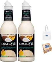 Daily's Pina Colada Mix - 33.8oz (Pack of 2) (Bay Area Marketplace Tote Bag included with Purchase)