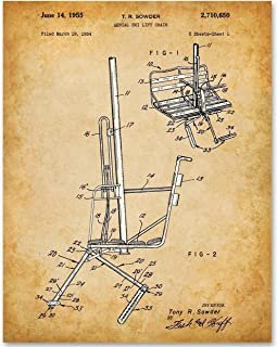 Ski Lift Chair - 11x14 Unframed Patent Print - Makes a Great Ski Lodges and Mountain Cabins Decor Under $15