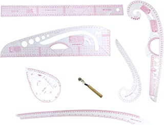 Stormshopping 6 Stlye Plastic Fashion Metric Ruler Set French Curve Pattern Grading Rulers Styling Design Craft Sewing Tool Set for DIY Clothing