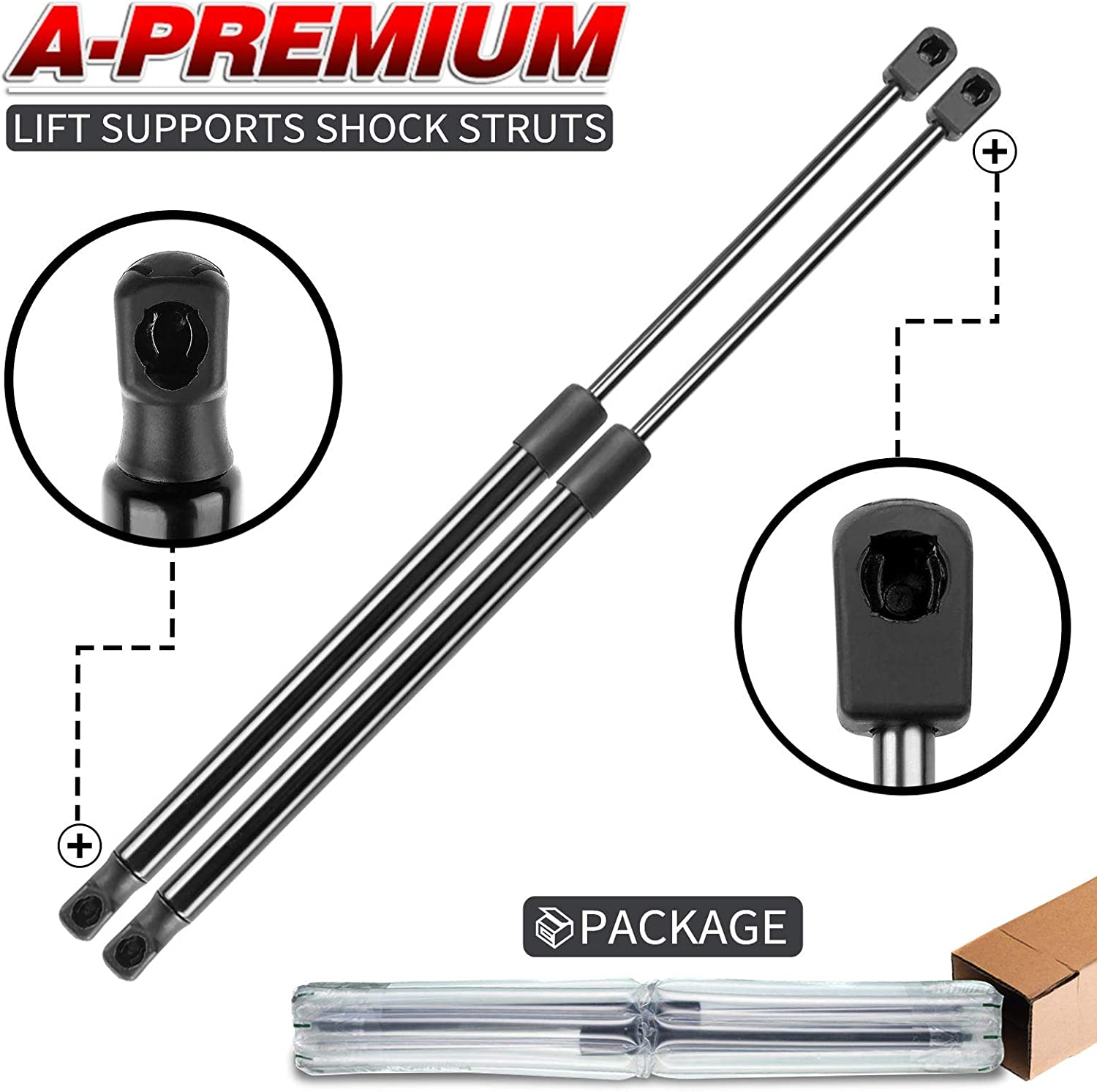A-Premium Front Free Shipping New El Paso Mall Hood Lift Supports Ram with Dodge Compatible 150
