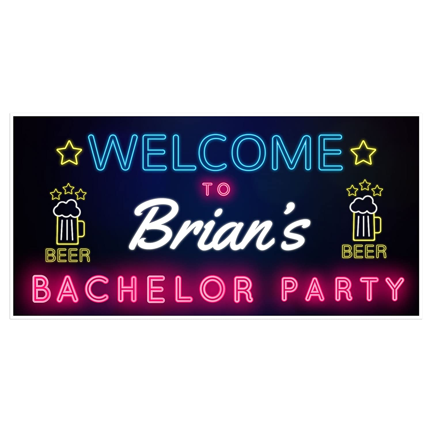 Beauty products Welcome to Bachelor Party Decoration Backdrop Banner free shipping
