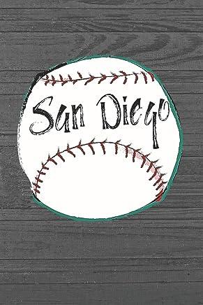 San Diego: San Diego Baseball Gifts for Men (6x9 Blank Lined Baseball Journal)