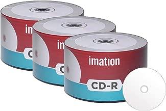 150 Pack Imation CD-R 52X 700MB/80Min White Inkjet Hub Printable Blank Media Recordable Data Disc
